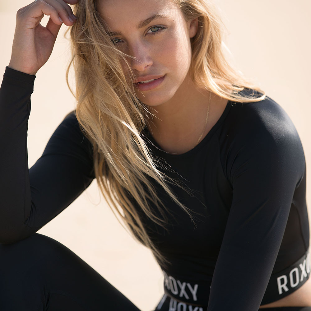 ROXY FITNESS LS CROP LYCRA 防磨衣