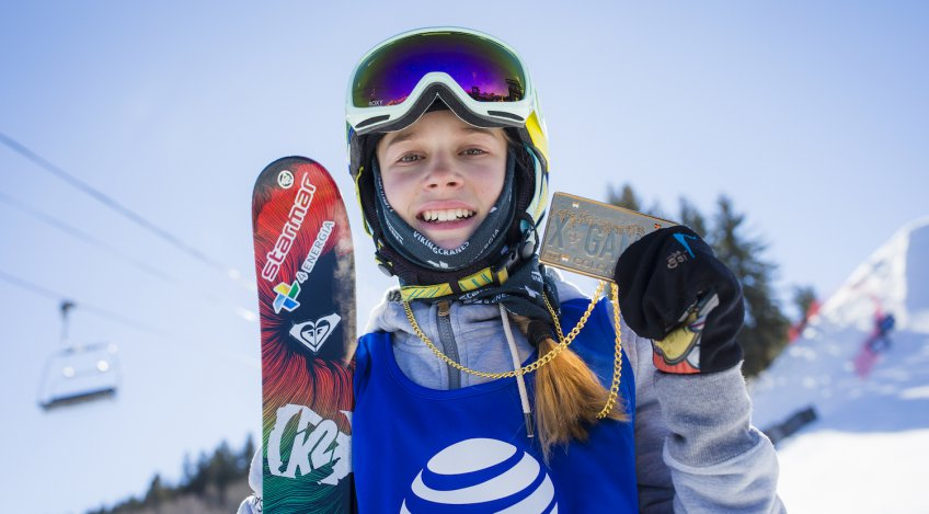 Congratulations Kelly! Youngest ever female Winter X Games gold medalist