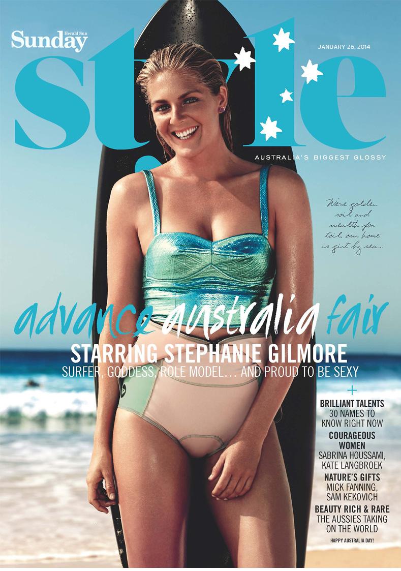 Stephanie Gilmore and Sunday Mag